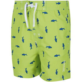 Regatta Skander II Shorts Kinderen, electric lime shark print